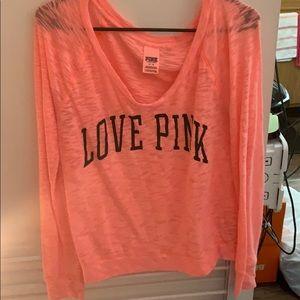 Love Pink long sleeve shirt size medium